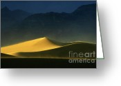 Mountains Of Sand Greeting Cards - Light Is Everything Greeting Card by Bob Christopher