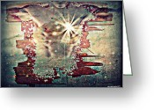 Live Art Mixed Media Greeting Cards - Light Of The Heart Greeting Card by Paulo Zerbato