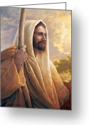 Religious Art Painting Greeting Cards - Light of the World Greeting Card by Greg Olsen