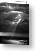 Rain Storms Greeting Cards - Light On The Sea Greeting Card by Richard Garvey-Williams