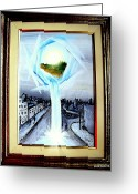 Portal Mixed Media Greeting Cards - Light Portal Greeting Card by Paulo Zerbato