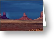 Monument Valley Photo Greeting Cards - Light Through Storm Greeting Card by Jean Day Landscape Photography