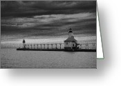 Light Gray Greeting Cards - Light to Guide You Greeting Card by Julie Lueders