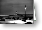 Duluth Greeting Cards - Lighthouse Canal Park Greeting Card by Jimmy Ostgard