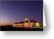 Signal Photo Greeting Cards - Lighthouse Greeting Card by Carlos Caetano