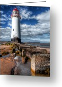 Talacre Digital Art Greeting Cards - Lighthouse Entrance Greeting Card by Adrian Evans