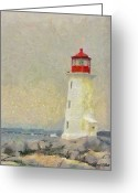 Light Houses Greeting Cards - Lighthouse Greeting Card by Jeff Kolker