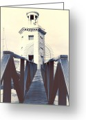 Lighthouse Tower Greeting Cards - Lighthouse Greeting Card by Joana Kruse