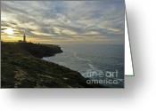 Oceano Greeting Cards - Lighthouse Greeting Card by Nabucodonosor Perez