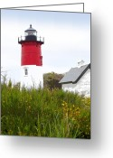 Nauset Beach Greeting Cards - Lighthouse of Memories Greeting Card by Michelle Wiarda
