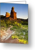 Palo Duro Canyon State Park Greeting Cards - Lighthouse Peak Palo Duro State Park Near Amarillo Texas Greeting Card by David Renner