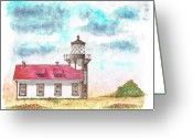 Arquitectura Greeting Cards - Lighthouse-point-cabrillo-california Greeting Card by Carlos G Groppa