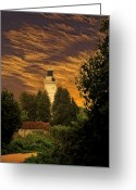 Door County Landmark Greeting Cards - Lighthouse View Greeting Card by Dennis Wright aka The Mellow One