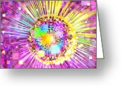 Explode Greeting Cards - Lighting Effects And Graphic Design Greeting Card by Setsiri Silapasuwanchai