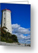 Kingston Greeting Cards - Lightkeeper Greeting Card by Joshua McCullough