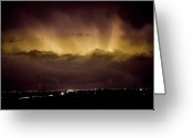 Lightning Weather Stock Images Greeting Cards - Lightning Cloud Burst Boulder County Colorado IM29 Greeting Card by James Bo Insogna