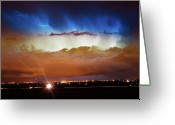 Lightning Weather Stock Images Greeting Cards - Lightning Cloud Burst Boulder County Colorado IM34 Greeting Card by James Bo Insogna