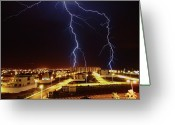 Marking Photo Greeting Cards - Lightning Greeting Card by Miguel Tarso Photo