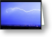 Lightning Bolt Pictures Greeting Cards - Lightning Over North Boulder Colorado  Poster LM Greeting Card by James Bo Insogna