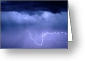 Lightning Bolt Pictures Greeting Cards - Lightning Rodeo Greeting Card by James Bo Insogna