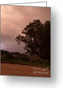 Rain Cloud Greeting Cards - Lightning Strike in Mississippi Greeting Card by Joshua House