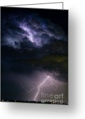 Storm Posters Greeting Cards - Lightning Thundehead Storm Rumble Greeting Card by James Bo Insogna