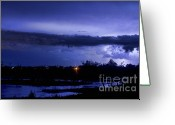 Unusual Lightning Greeting Cards - Lightning Thunderstorm July 12 2011 St Vrain Greeting Card by James Bo Insogna