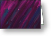 Jewel Tones Digital Art Greeting Cards - Lights Greeting Card by Connie Kottmann
