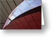 Horizontal Lines Greeting Cards - Lights in Skylight of Building Greeting Card by Jeremy Woodhouse