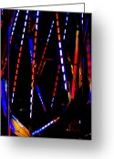 Ferris Wheels Greeting Cards - Lights of the Ferris Wheel Greeting Card by Dana  Oliver