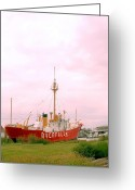 Overalls Greeting Cards - Lightship Greeting Card by Teresa Levite