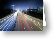 Marking Photo Greeting Cards - Lighttrails Greeting Card by Andreas Levers