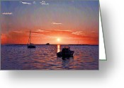 Florida Sunset Greeting Cards - Like a Painted Sky Greeting Card by Bill Cannon
