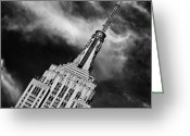 Long Street Photo Greeting Cards - Like a Rocket Ship Heading to the Moon Greeting Card by John Farnan