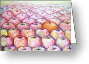 Tasty Pastels Greeting Cards - Like Apples and Oranges Greeting Card by Shana Rowe