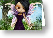 Ethnic Digital Art Greeting Cards - Lil Fairy Princess Greeting Card by Alexander Butler