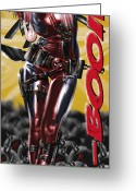 Bikini Greeting Cards - Lil Miss Deadpool Greeting Card by Pete Tapang