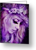 Lashes Greeting Cards - Lilac Greeting Card by Sheena Pike