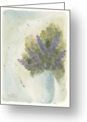 Watercolour Greeting Cards - Lilacs Greeting Card by Ken Powers