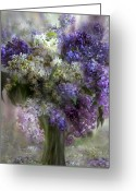 Flower Greeting Card Greeting Cards - Lilacs Of Love Greeting Card by Carol Cavalaris