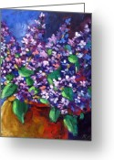 Artiste Greeting Cards - Lilacs Greeting Card by Richard T Pranke