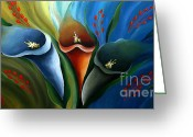 Flower Photographs Painting Greeting Cards - Liliaceous Beauty Greeting Card by Uma Devi