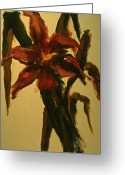 Flower Still Life Prints Greeting Cards - Lilies I Greeting Card by Chris  Riley