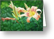 - Harlan Greeting Cards - Lilies on the Web Greeting Card by - Harlan