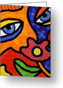 Face. Colorful Greeting Cards - Lilli Lilligrin Greeting Card by Steven Scott