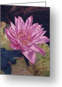 Flower. Petals Pastels Greeting Cards - Lily and Her Shadow Greeting Card by Melissa Tobia