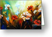 Flower Photographs Painting Greeting Cards - Lily in Bloom Greeting Card by Uma Devi