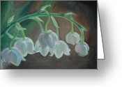 Scenary Greeting Cards - Lily of the valley Greeting Card by Keya Mohammed
