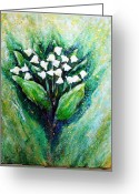 Lilies Sculpture Greeting Cards - Lily of the valley Greeting Card by Raya Finkelson