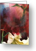 Nature Fusion Greeting Cards - Lily With Red Greeting Card by Alfred Ng